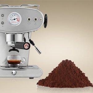 Machines met gemalen koffie